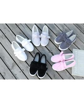 Fashion Bowknot Women Flat Shoes Platform Sneakers