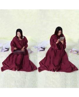 Winter Soft Lazy Warm Blanket Long Turtle Neck Home Cloak Robe