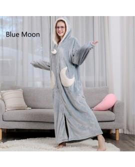 Long Thick Warm Bathrobe Pajamas