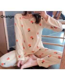 Casual Long Sleeve Pajamas Suit