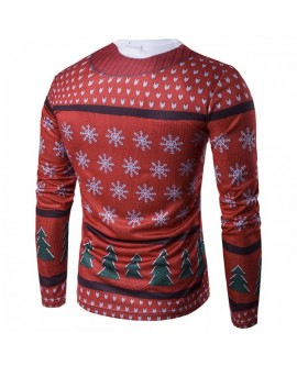 Christmas Men Sweatshirt Tops Winter Sweater