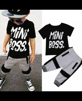 Casual Toddler Boy T-shirt Pants Set