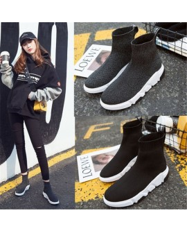 Unisex Casual Sport High Top Socks Shoes