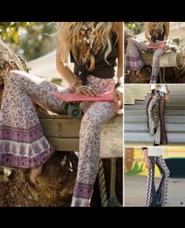Boho Hippie Wide Leg Pants