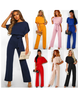 Women Backless High Waisted Jumpsuits