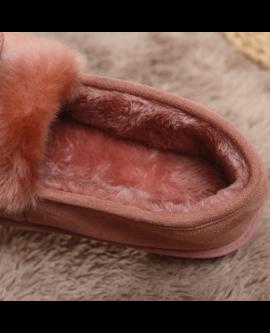 Women Home Fur Warm Slippers Winter Plush Shoes