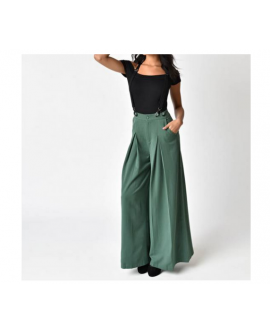 Women Loose Removable Suspender Trousers Pants Overalls