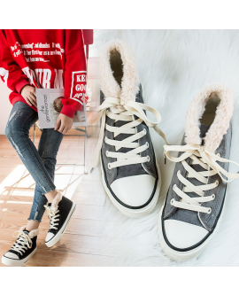 Women Winter Shoes Fluffy Sneakers Warm Boots