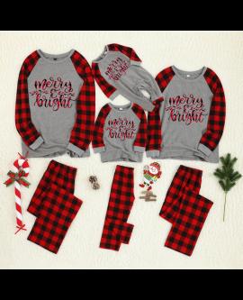 Christmas Family Pajamas Set Mother Father Kids Baby Sleepwear Outfits