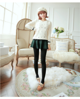 Women Winter Leggings Warm Plush Pencil Pants