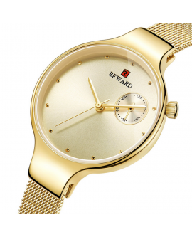 Luxury Trend Women Double Plates Metal Watch Wrist Watches