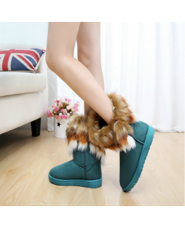 Winter Warm Suede Ankle Snow Boots