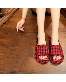 Autumn And Winter Women's Cloth Soled Slippers