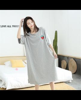Summer Girls Sleepwear Large Comfortable Pyjamas Striped Nightwear