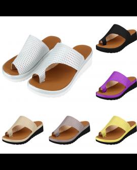 Summer Platform Flat Sandals Women Dot Toes Shoes