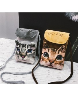 Cat Phone Shoulder Bag