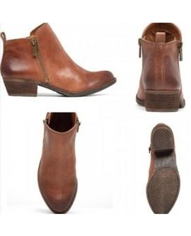 Women Vintage Low Heel Short Boots