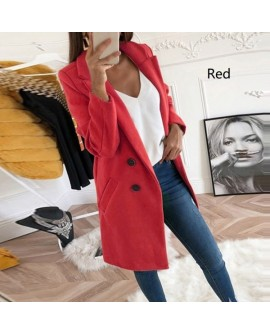 Women Fashion Casual Lapel Coat