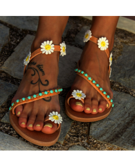 Summer Sweet Floral Flat Sandals