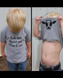 Cute Funny Kids Short Sleeves Tops T-shirt