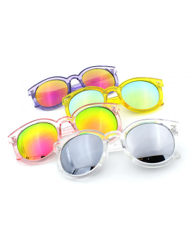 Unisex Mirrored Trendy Retro UV400 Sunglasses