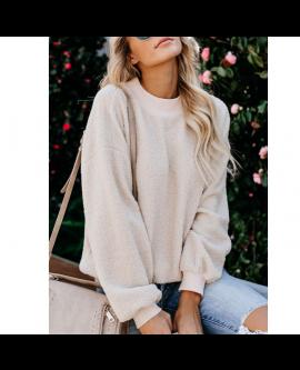 New Winter Fashion Fleece Sweater Pullover Women Tops
