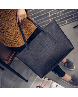 Fashion Large Women Shoulder Bag Leather Totes Handbag
