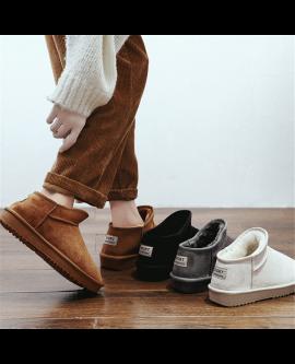 Plush Women Snow Short Boots Warm Winter Flat Shoes