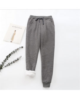 Winter Thick Pants Solid Casual Sports Home Warm Trousers