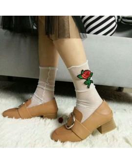 Glitter Mesh Ankle Socks