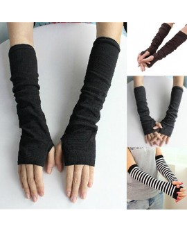 Fingerless Winter Long Gloves