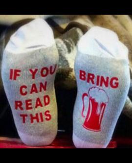 Funny Letter Ankle Socks