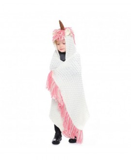 Girls Hooded Cartoon Supersoft Knitted Blanket Shawl